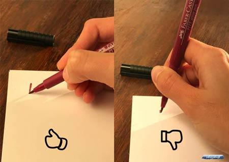 Wie halte ich den Brush Pen?