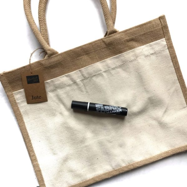 Set: Tasche mit Fabric Brush Marker