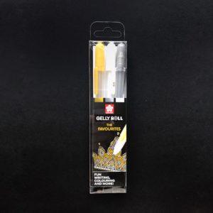 Sakura Gel Stift Set gold silber weiß