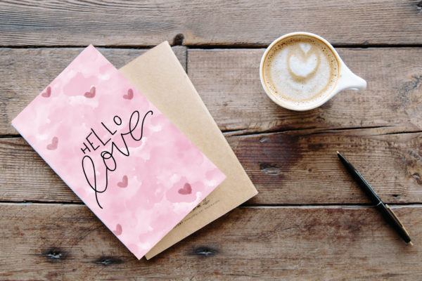 "Valentinstag Printable ""Hello Love"""