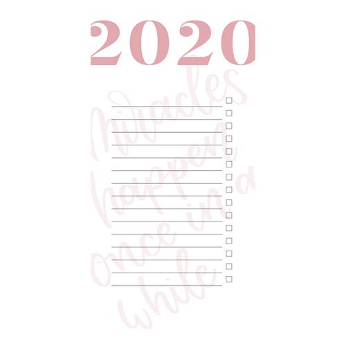 Printable 2020