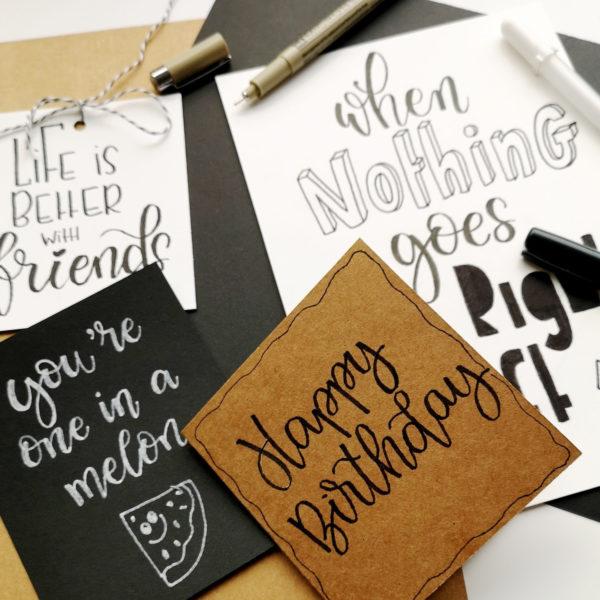 Florence Hand Lettering Papier